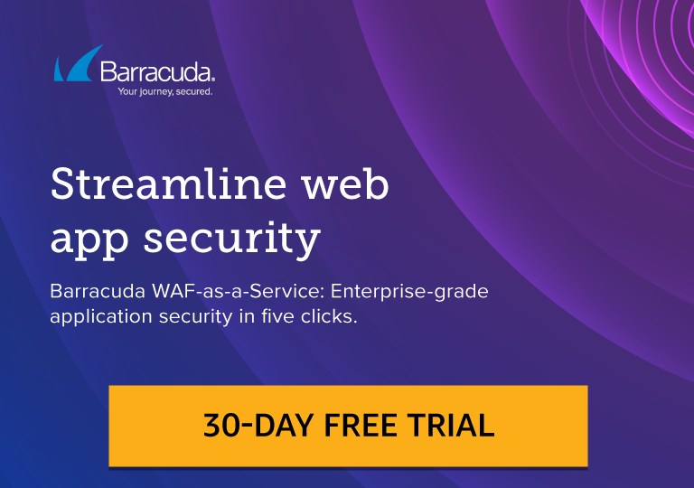 Barracuda WAF-as-a-Service. Start your free 30-day trial on AWS Marketplace